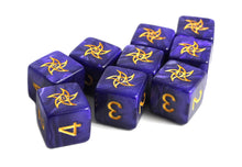 purple astral elder sign d6 dice set