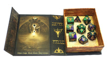 The Purple and Green Mask Edition Yellow sign Polyhedral Dice