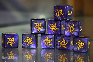 Astral Elder Sign Dice - Mystic Purple d6 Set
