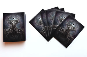 Cosmic horror card sleeves- whisperer in the web on white