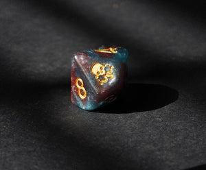 Elder Dice - Tube of Nebula Seal of Yog-Sothoth d10 Dice - Nebula