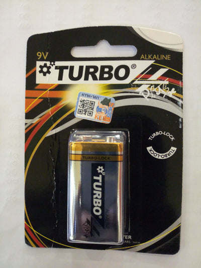 Turbo 9V Alkaline batteries