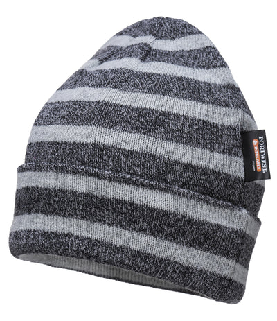 Portwest Striped Insulated Knit Cap, Insulatex Lined (B024)