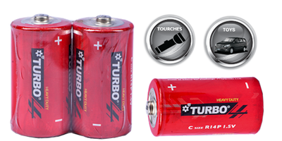 Turbo D size batteries