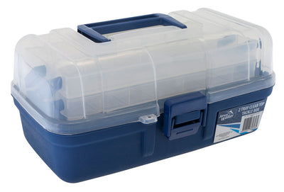 2 tray clear top tackle box
