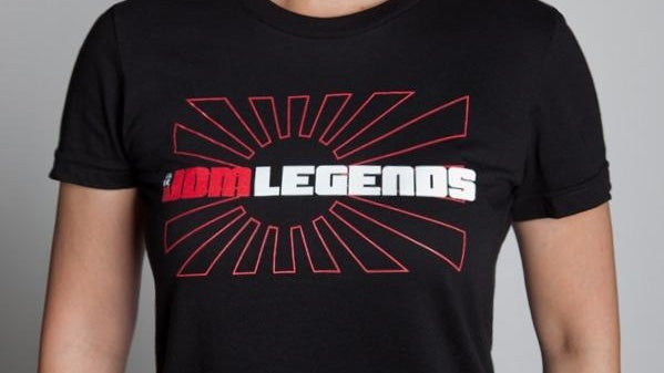 Women's Black JDM Legends Logo Tee Shirt