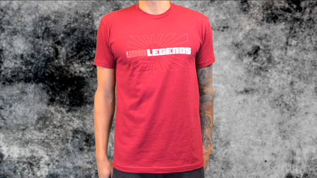 Women's Red JDM Legends Logo Tee Shirt