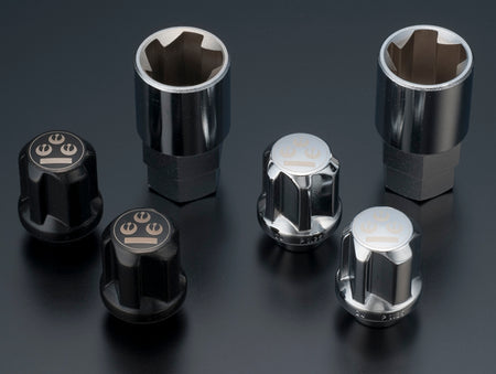 Lug Nut Set Stainless (Black)