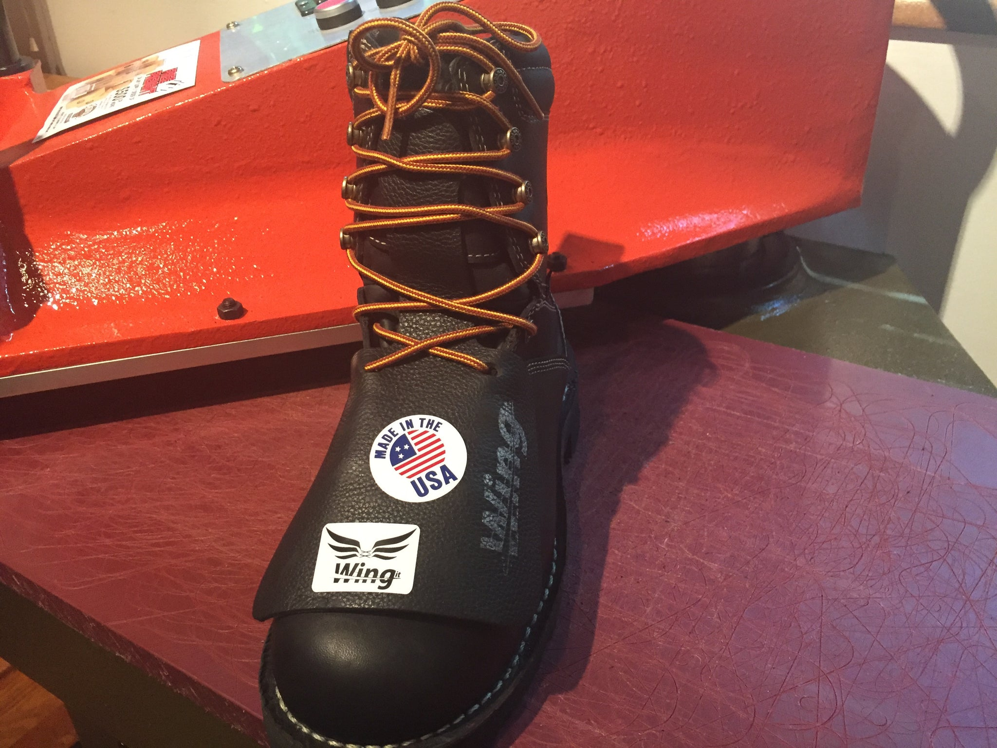 brown black wing it boot covers for welding
