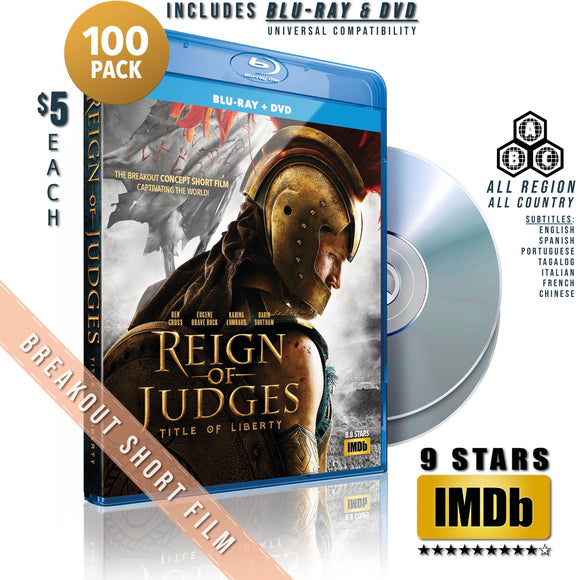 BLU-RAY + DVD (100-PACK) - 77% OFF!