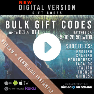BULK GIFT CODES: STREAM + DOWNLOAD