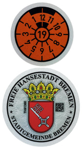 Bremen - German License Plate Registration Seal (HB) for Mini Cooper