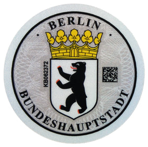 Berlin - German License Plate Registration Seal (B)