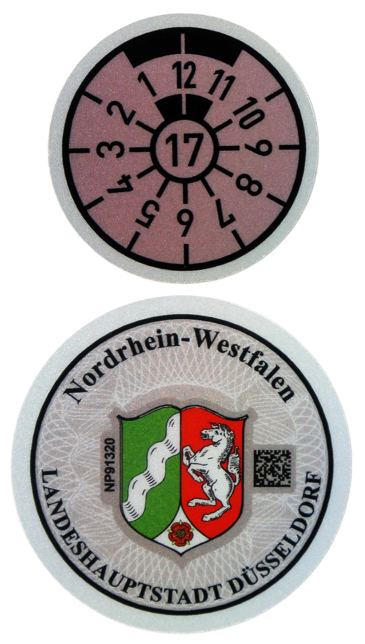 Düsseldorf - German License Plate Registration Seal (D)