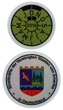 U.S. Forces In Germany - German License Plate Registration Seal (AD)