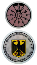 Police - German License Plate Registration Seal (BD or BG)