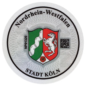 Cologne - German License Plate Registration Seal (K)