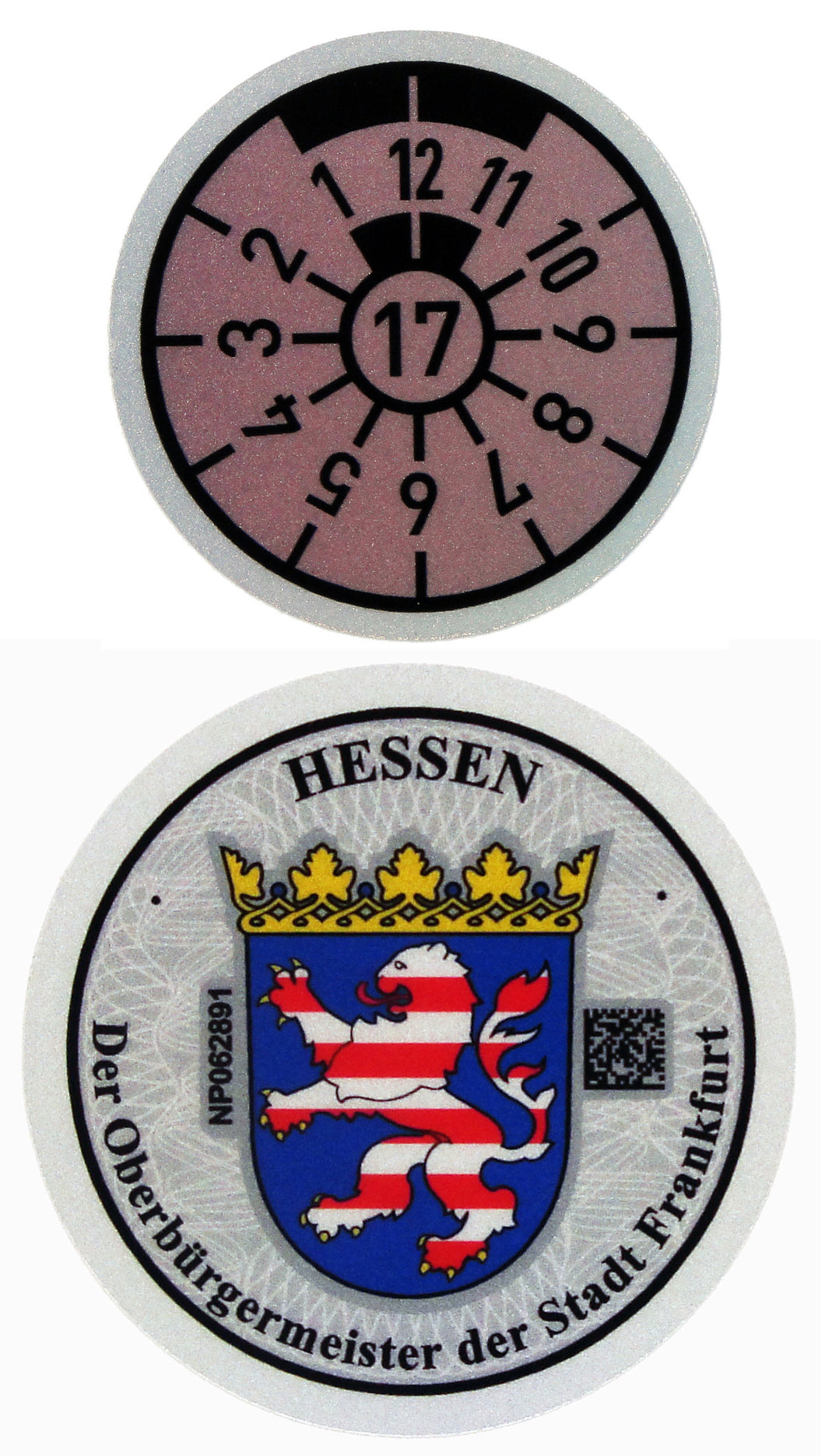 Frankfurt - German License Plate Registration Seal (F)