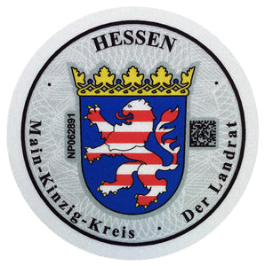 Main Kinzig Kreis - German License Plate Registration Seal (MKK)