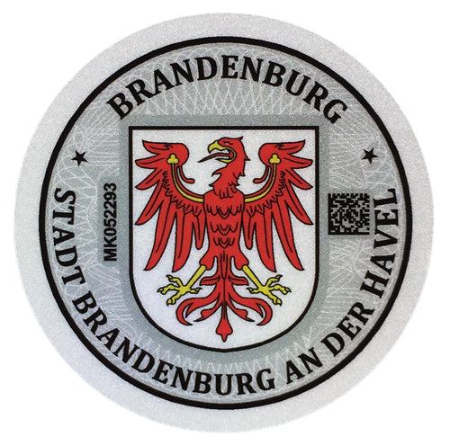 Brandenburg - German License Plate Registration Seal (BRB)