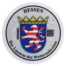 Friedberg & Wetteraukreis - German License Plate Registration Seal (FB)