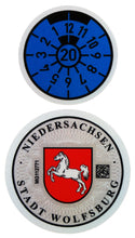 Wolfsburg - German License Plate Registration Seal (W) for VW