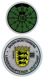 Stuttgart - German License Plate Registration Seal (S) for Mercedes-Benz, Porsche