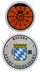Ingolstadt - German License Plate Registration Seal (IN) for Audi