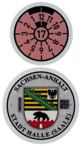 Halle - German License Plate Registration Seal (HAL)