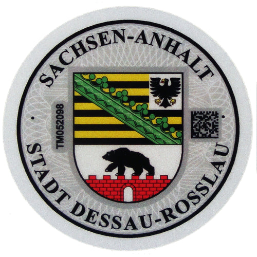 Dessau - German License Plate Registration Seal (DE)
