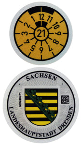 Dresden - German License Plate Registration Seal (DD)
