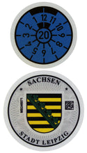 Leipzig - German License Plate Registration Seal (L)