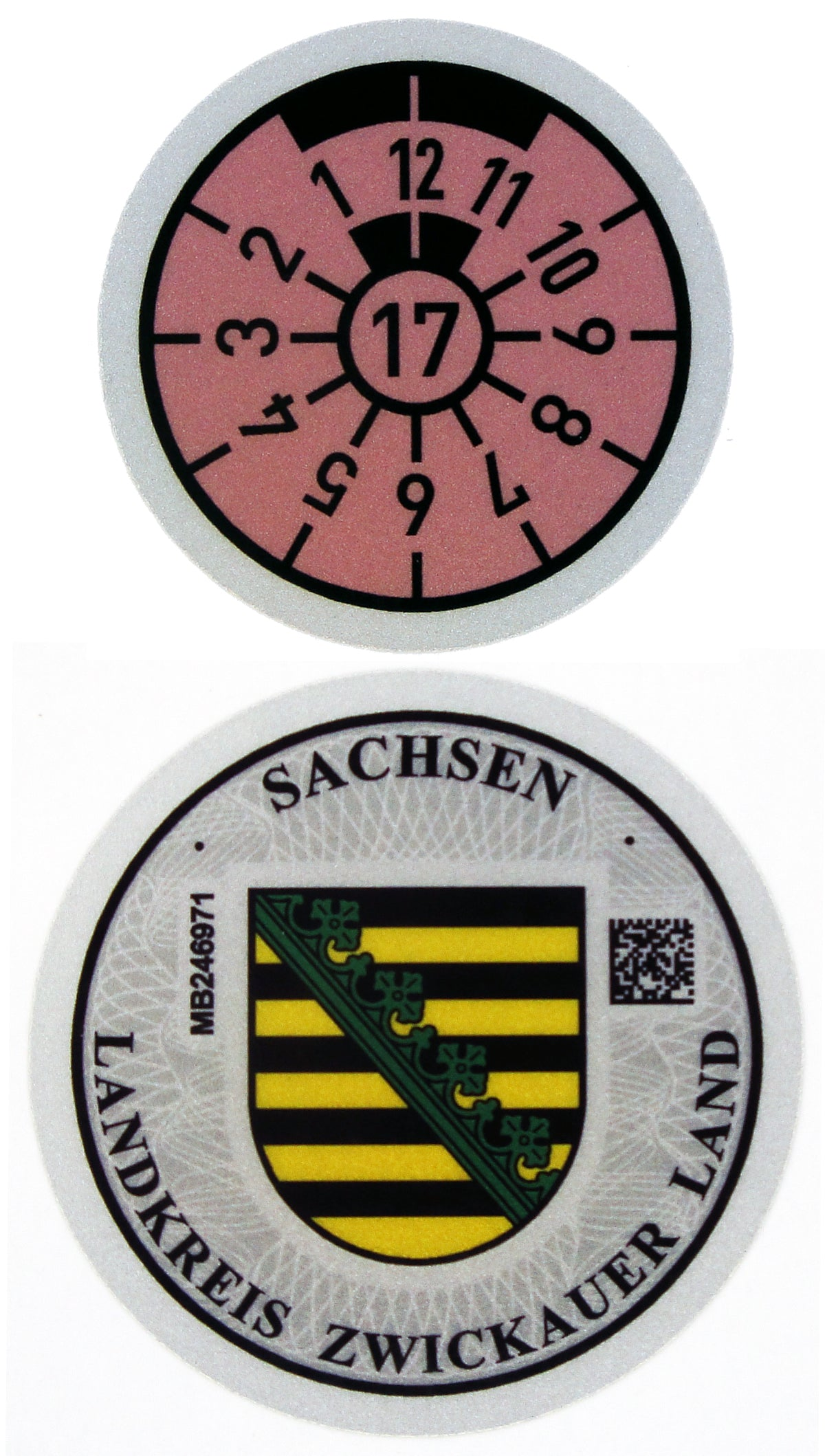 Zwickauer Land - German License Plate Registration Seal (Z)