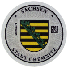 Chemnitz - German License Plate Registration Seal (C)