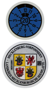 Müritz - German License Plate Registration Seal (MÜR)