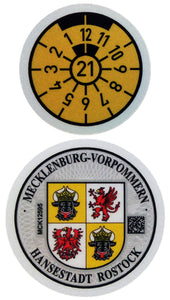 Hansestadt Rostock - German License Plate Registration Seal (HRO)