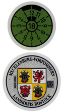 Landkreis Rostock - German License Plate Registration Seal (ROS)