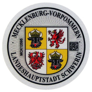 Schwerin - German License Plate Registration Seal (SN)