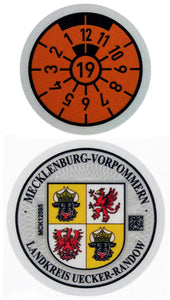 Uecker-Randow - German License Plate Registration Seal (UEK)