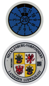 Ludwigslust - German License Plate Registration Seal (LWL)