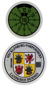 Demmin - German License Plate Registration Seal (DM)