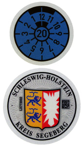 Segeberg - German License Plate Registration Seal (SE)