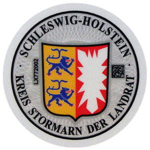 Bad Oldesloe & Stormarn - German License Plate Registration Seal (OD)