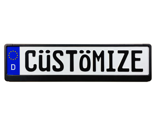 Custom German License Plate with Frame