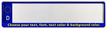 Custom European License Plate Frame - Premium