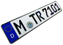 Munich German License Plate with Hologram