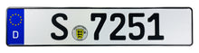 German Police License Plate