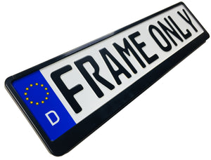 Premium German License Plate Frame - Evolution 3 - Black