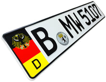 German Coat of Arms Eagle + Flag Plate
