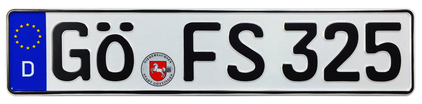 Göttingen German License Plate (GÖ)